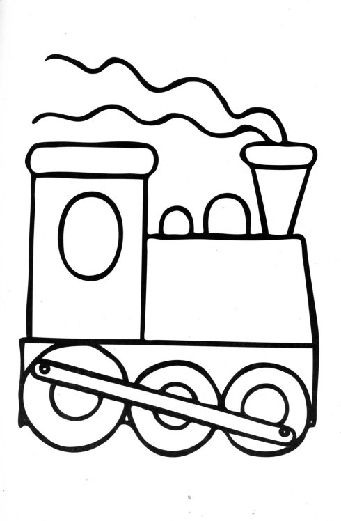 mewarnai kereta api